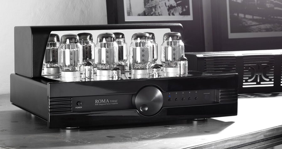Synthesis ROMA510AC lntegrated stereo tube amplifier BLack