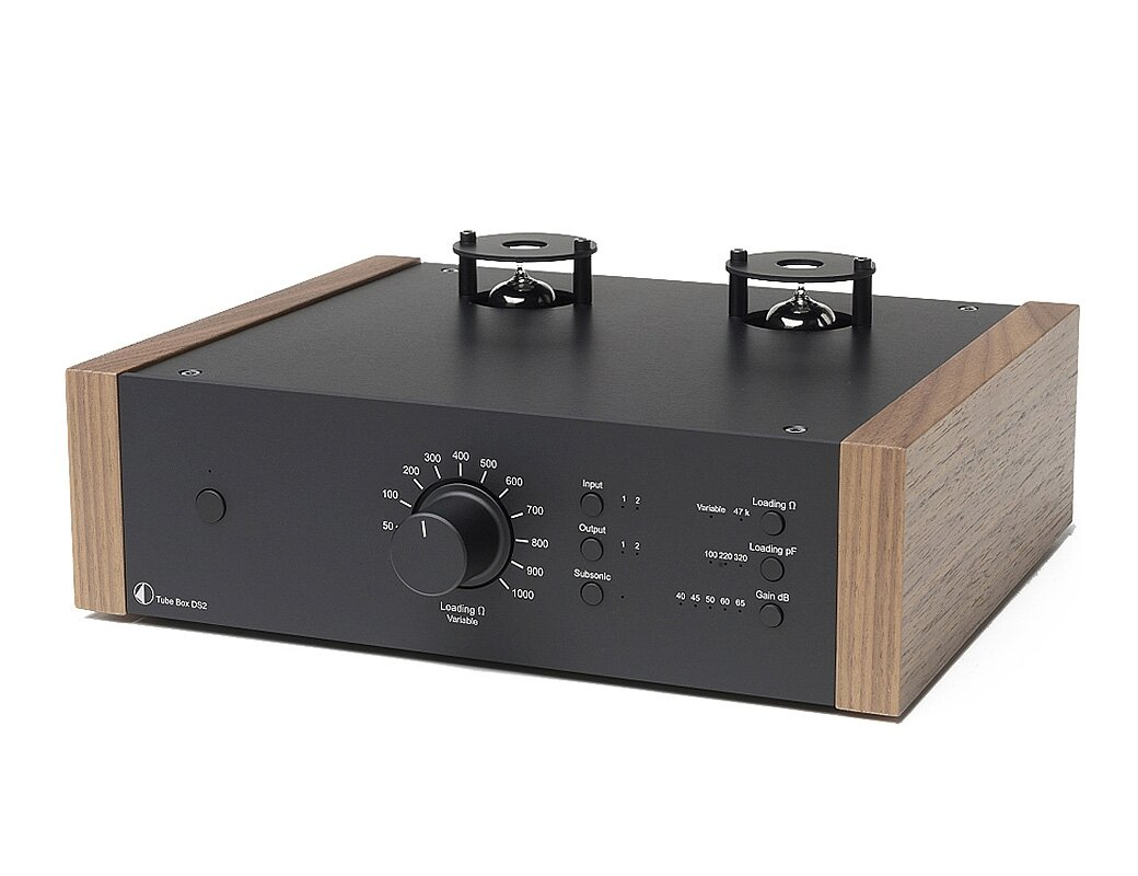 Pro-Ject TUBE BOX DS2 BLACK WALNUT